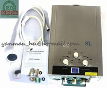 Used Natural Gas 8L Tankless Instant HOT Water Heater Boiler Stainless Steel