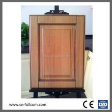 Light colored wood grain pvc kitchen cabinet door