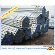 diameter 25mm High quality galvanized round steel pipe/tube