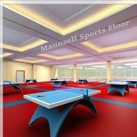 Indoor PVC/ Plastic Flooring of Table tennis Court Used