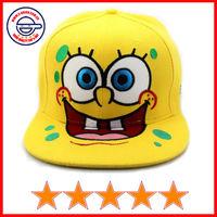 Wholesale spongebob embroidery snapback caps,small order spongebob cap for kids, kids snap back caps (SU-HP15240)