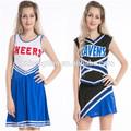 instyles glee nuevo estilo college animadora disfraces niña de la escuela de lujo uniforme de vestido de fiesta de disfraces