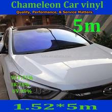 Automobile VLT 80% anti-scratch chameleon window solar film 2mil chameleon car window tint film CH002