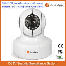 SunView 720p H.264 free video camera Support 32G TF Card pan tilt full HD ctv security system Waterproof hd 1080p ip camera