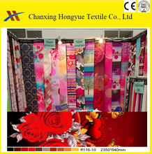 Samples of disperse printing Polyester 3D printed bedding sets fabric for Arab market