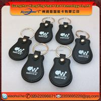 Good price cheap waterproof RFID leather keyfob/rfid tag