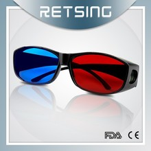 Plastic red blue 3-d glass 3d glasses