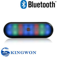 Kingwon 2015 new flashed light V3188 portable mini bluetooth home theater wireless speaker