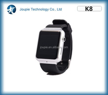 Joupie-K8 New Leather Strap watch band 2.0MP camera bluetooth/WIFI 3G GSM waterproof android gps smart watch phone K8