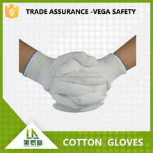 made in Shandong cotton work safety industry gloves