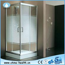 Corner bathroom design sliding shower enclosure