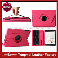 Deluxe for ipad mini smart case with 360 rotating removable bluetooth keyboard