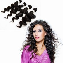"""3pcs/lot 20"""" 22'' 24'' natural black factory price tangle free 100% virgin indian remy temple hair loose deep wave"""