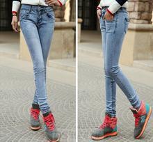 venta al por mayor en las poblaciones de casual pantalones jeans de moda para las niñas