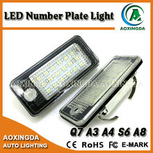 No error code LED number plate light for Q7 TDI A3 8P A6 4F