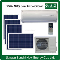 Off grid 100% hot sale DC48V split home solar 12000 btu slim air conditioner