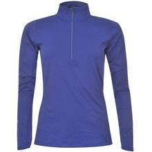100% cotton long sleeves zip collar women dry fit polo shirt