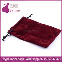 Custom velvet drawstring sack pouch with custom printing for gift packaging