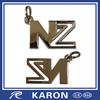 novelty die casting metal letter n keychain for promotion