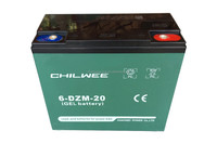 Maintenance Free (MF) Battery for bicycle, 12V 24Ah at 20hours