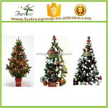 PVC artificial christmas tree for christmas day decoration
