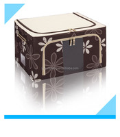 Bedroom Brown Fabric Storage Box with Easy Carry Handles