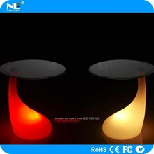 Rechargeable modern color changing LED lighted up coffee bar table