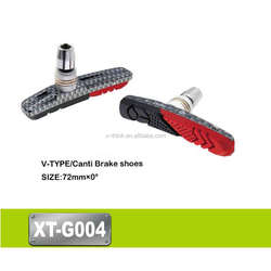Good quality V-type Canti brake cast iron shoes/pads motorcycle 72MM 4707