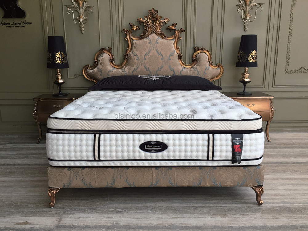 queen anne series bedroom furniture luxury crown shape upholstery bed