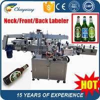Automatic beer bottle labeling machine,three side sticker labeling machine,three sides labeler