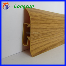 Fashionable types of waterproof wood grain plastic skirting board