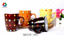 Eco-friendly small drum mug ceramic coffee mug with handle