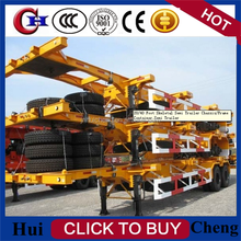 2015 chinese low price 40ft skeleton semi trailer for container transport