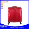 2015 best new design fashion travel good mini four wheels carry on beauty aluminum cheap leather travel luggage bag
