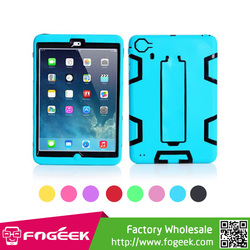 Kickstand Skidproof Design for iPad Mini Impact Resistant Robot PC & Silicone 3 in 1 Combo Case