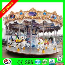 Newest LED lighting fiberglass amusement electric China carousel models