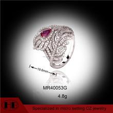 Flor abierta plata anillos vendidos, abierta anillo