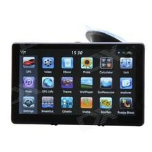 "Cheap Ultra-thin 7"" Touch Screen LCD WinCE 6.0 GPS Navigator w/ FM + Internal 4GB Europe Map - Light Blue"