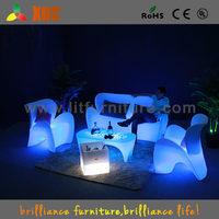 2016 ShenZhen fashion LED Plastic Furniture , led sofa lighted