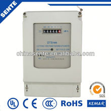 DTS7666 TYPE three phase electronic active watt-hour lcd for energy meters