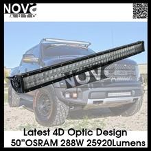 New Osram Chips Providing Higher Output 288W LED Light bar for truck