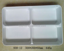 4 connected deep melamine tray with cover