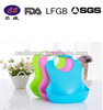 New products colorful sample style silicone bibs for baby