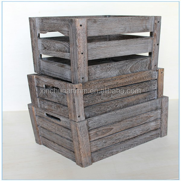 High quality vintage cheap wooden fruit crates for sale for Vintage crates cheap