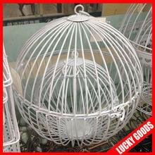 2pcs/set white decorative round bird cage for sale