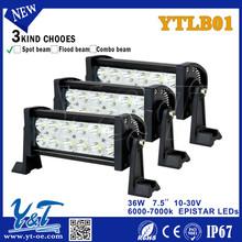 Superbright high power aluminum housing straight led light bar 36W for cars