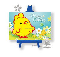 Diy diamond mosaic tile picture with chicken design for children