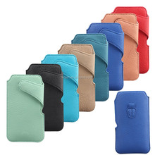 Mobile pouch by PU material for iPhone 6 samsung s5,