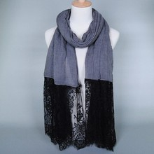 Fashion design islamic lace hijab