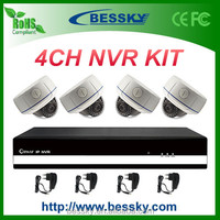4CH 2.0MP IP camera NVR Kit, Metal Dome IP camera, Vadal-proof Day&Night indoor ip cctv security kit(BE-6004SLIPDA200)